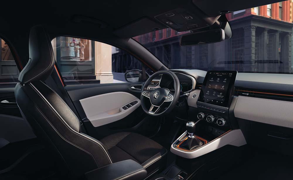 Renault Clio 2019 - kabina, przód Clio 2019 - kabina, przód Clio 2019 - kabina, przód