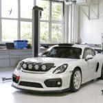 Porsche Cayman GT4 - przód i lewy bok