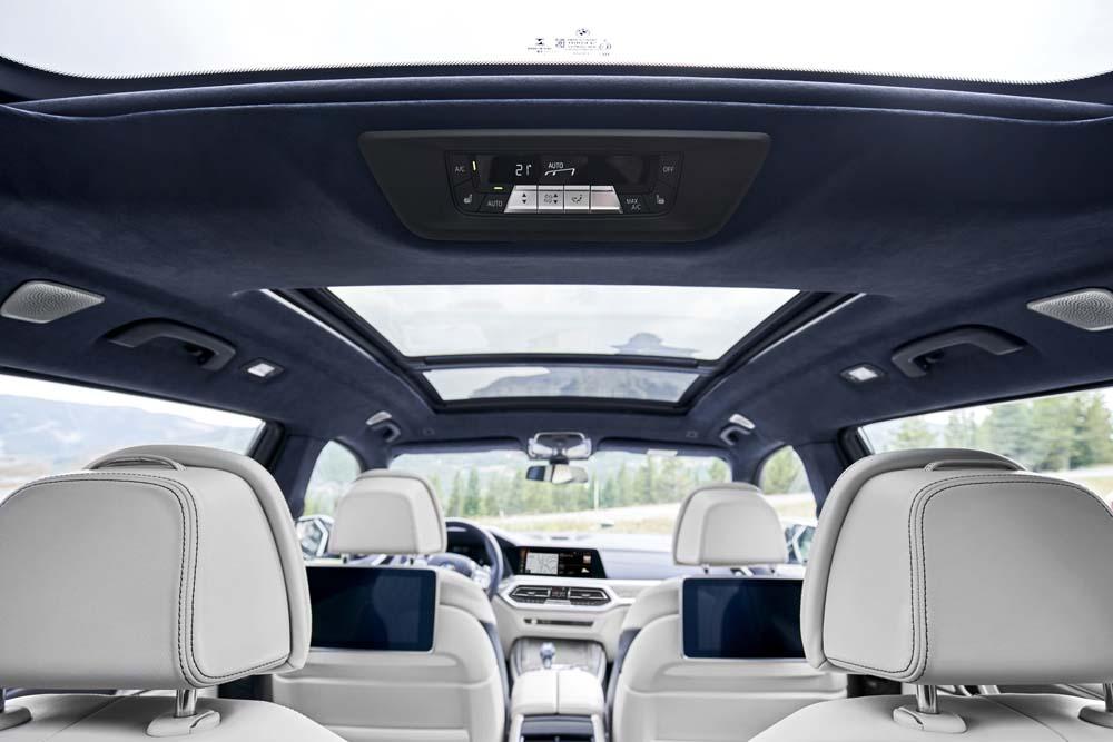 BMW X7 wnętrze